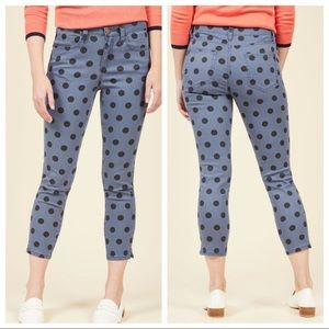 ModCloth Daytime Dash Cropped Pants in Dotted Navy